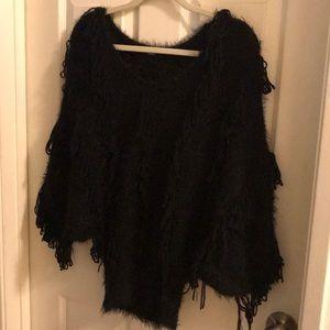 Blk fluffy sweater